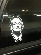 A badass Bill Murray sticker on a truck I'm working on.