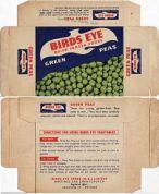1960s Birds Eye Frozen Peas Box - New Zealand - in the pocket