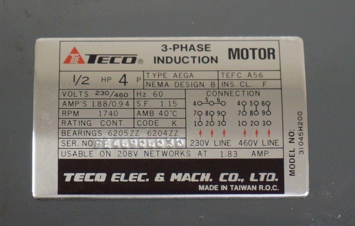teco motor wiring diagram area lighting research sb industrial supply - mro/plc equipment/parts