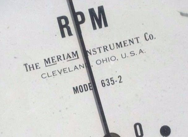 USED MERIAM 635-2 INDICATION TACHOMETER 6352