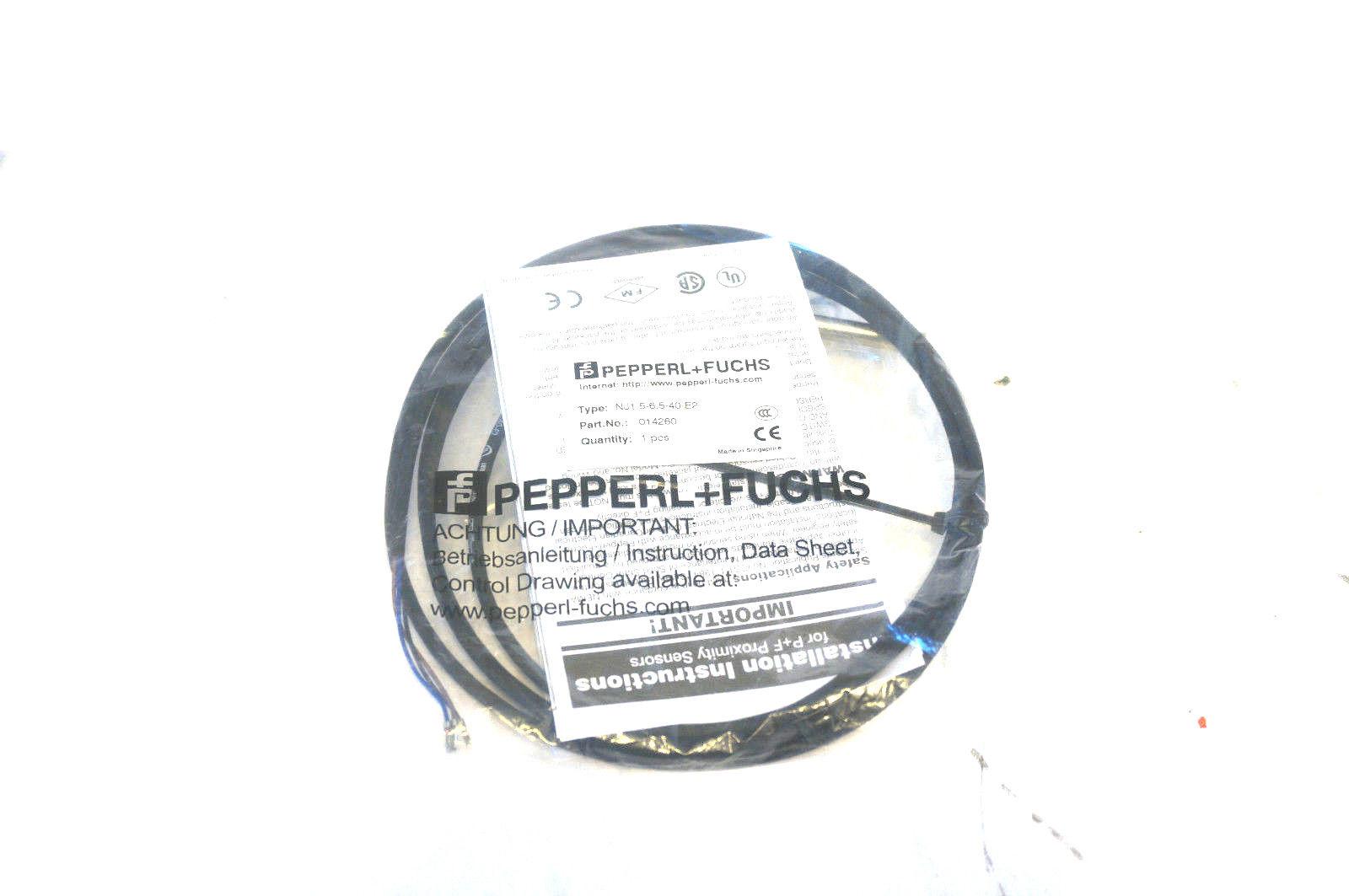 NEW PEPPERL & FUCHS NJ1.5-6.5-40-E2 INDUCTIVE SENSOR