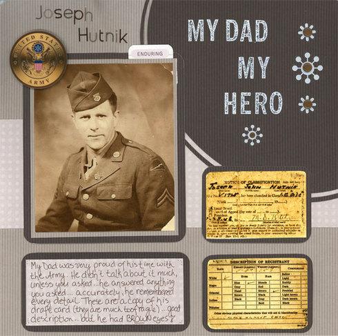 Scrapbook layout for a veteran