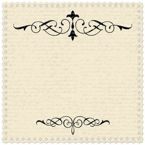Cream Scroll Scalloped 12x12 Paper - Creative Imaginations
