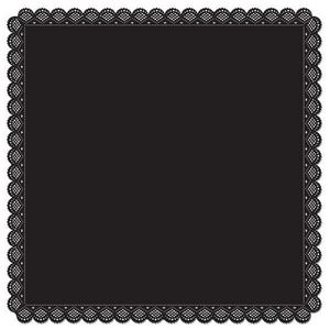 Square Black Die Cut