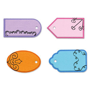 Small Tag Set Sizzlits Die Set 4PK by Sizzix
