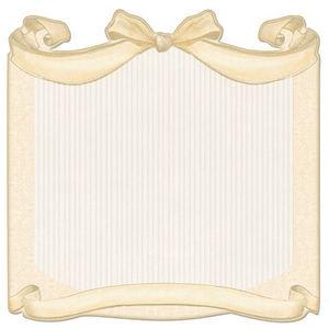 Cream Bow Die-cut Paper - Creative Imaginations