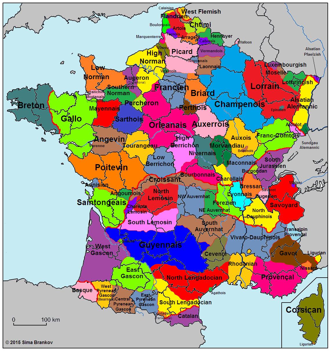 Languages Of France Sb Language Maps