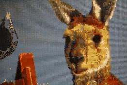 Kangaroo in LEGO mosaic at Myer