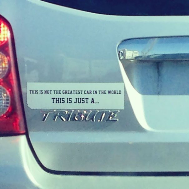 These Hilarious Bumper Stickers Will Have You Driving Of Laughter