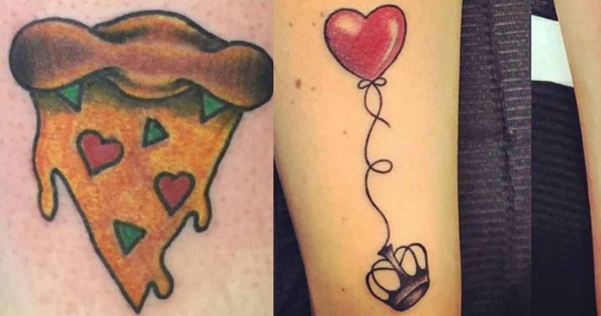 Couples Tattoos With Hearts