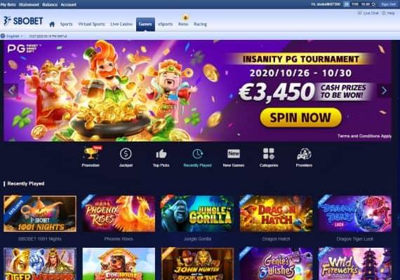 รวมเกม Slot online ใน Sbobet