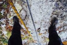 На скале