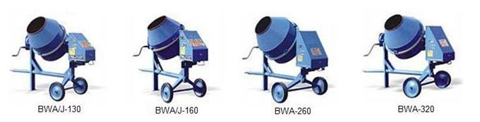 Бетономешалки BWA/J-130, BWA/J-160, BWA-260, BWA-320, (Польша) – продажа, аренда, ремонт