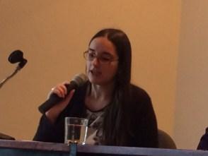 """Candidata da terceira turma de formação da SPMG Katia Maria Amaral dos Santos apresentando """" A evolução da transferencia em Freud"""""""