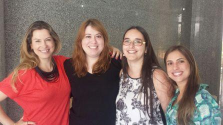 Daniela Bisewski (representante ABC), Cecília Cruvinel (representante da OCAL), Kátia Amaral (representante da IPSO) e Camilla Biaggi ( conselheira da região sudeste)