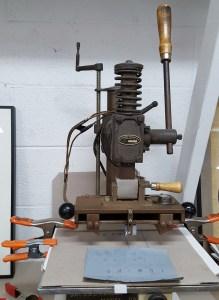 Hot Stamp Machine at Lumino Press