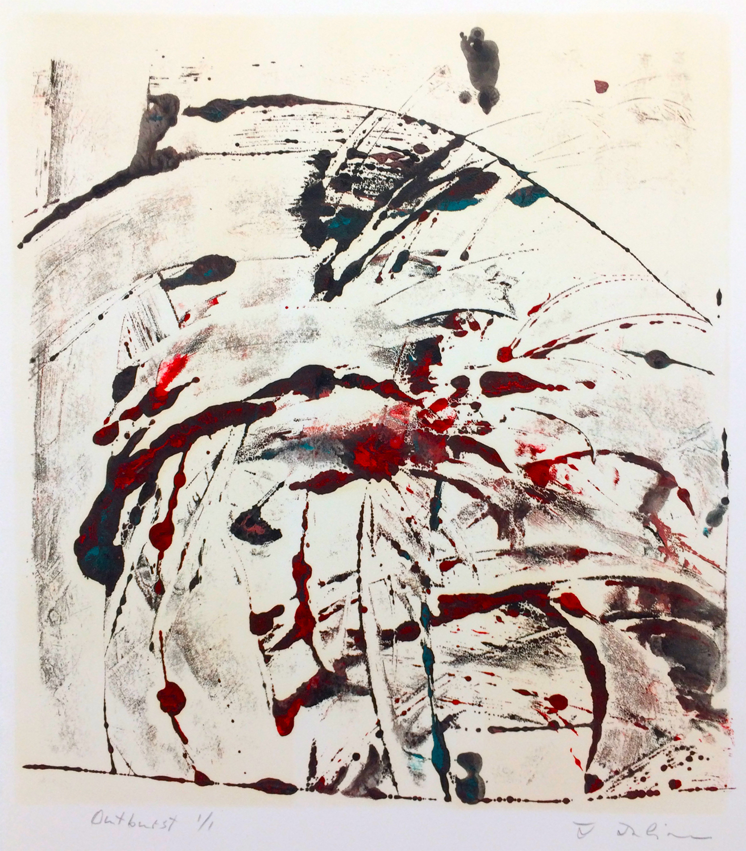 "Jana Julian, ""Outburst"", Monotype"