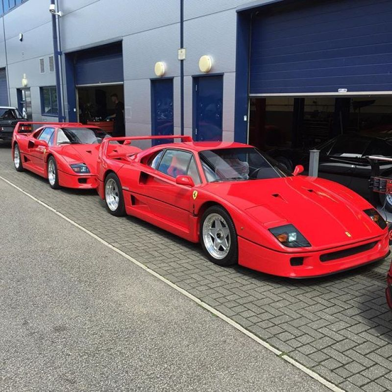 Ferrari F40 season has started at SB! #f40 #ferrari #sbrace #red #service #summer
