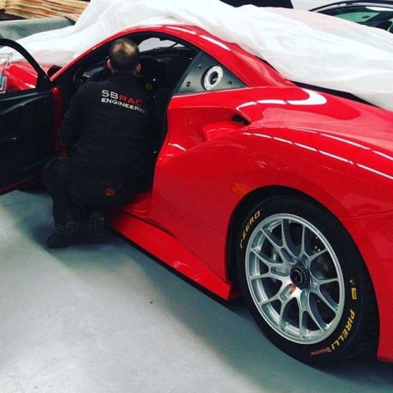 The new SBR race car! We will be out this season in GT cup with this car! Watch this space! #ferrari #488 #488challenge #sbraceengineering #ferrariracing