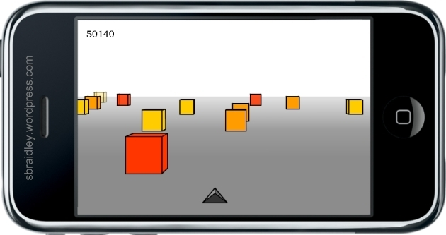 Cubefield iPhone Mockup