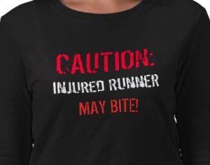 injured t shirt runner
