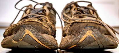 old-running-shoes