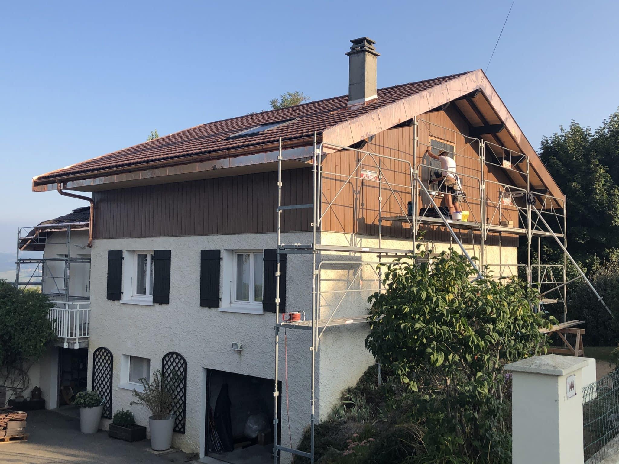 Rénovation thermique de toiture à Cruseilles