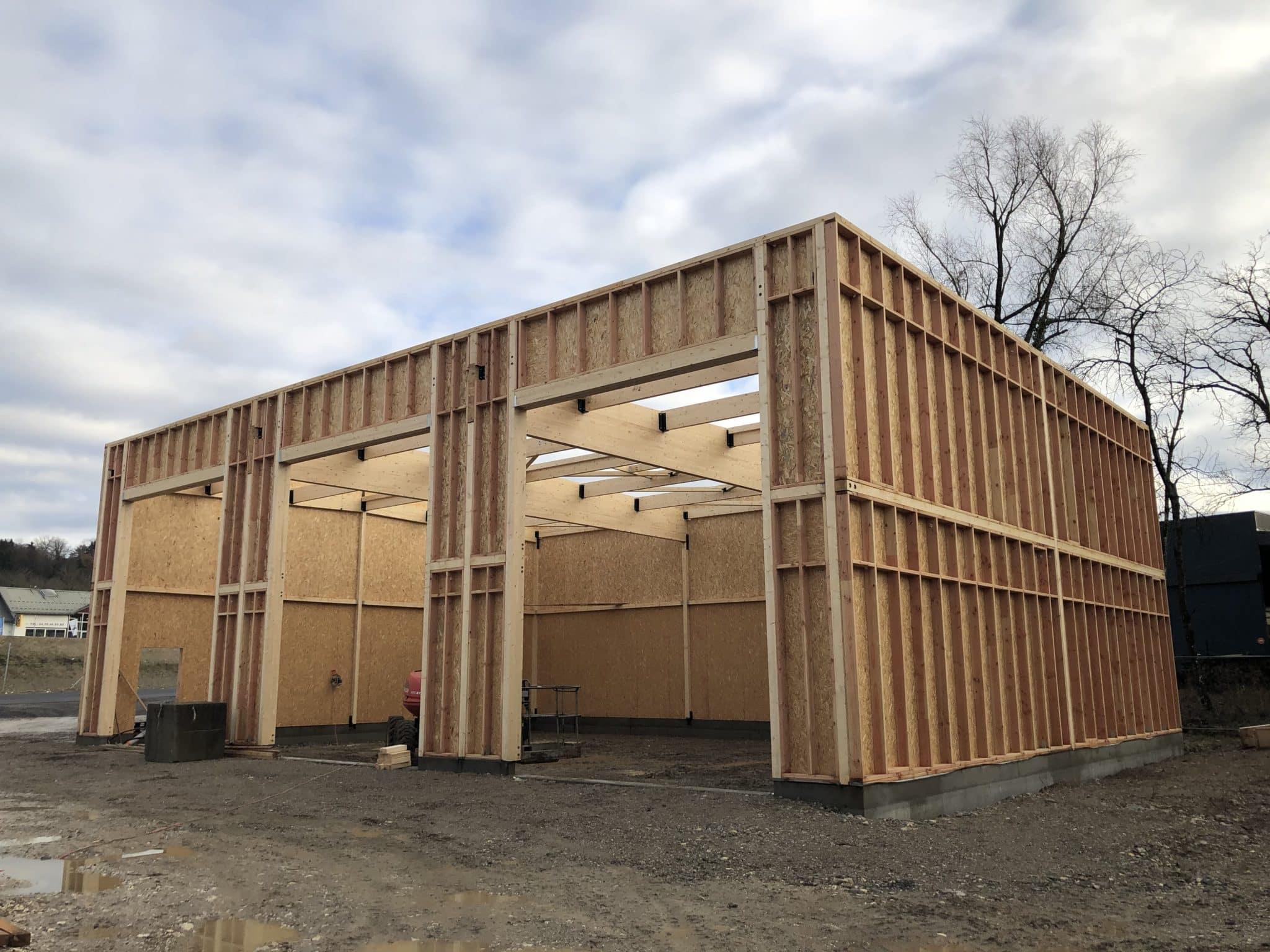 Réalisation de notre nouvel hangar