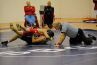 Hulse is nearly pinned in the 3rd period