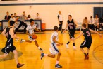 Strachan leads the fast break, a common occurrence on this night