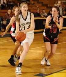 Natalie Istrati moves toward the hoop