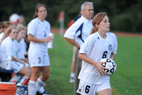 McKenna Ryland looks to throw the ball in