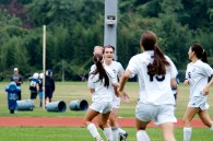 The girls celebrate Lavery's eventual game-winner