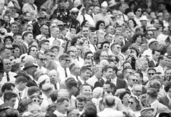 President Kennedy was in attendance at the '61 Orange Bowl