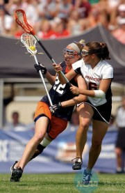 Banks during Virginia's 2004 National Championship win over Princeton