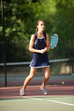 Olivia Braat was a mainstay at singles for the tennis team (PC: Danielle Germain)