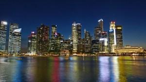 singapore river, skyline, building