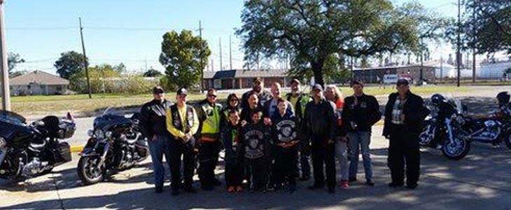 The Blue Knights Louisiana II. a law enforcement officers motorcycle club, in Chalmette on Nov. 22 to help the family of St. Bernard Sheriff's Dep. Clayten Burns.