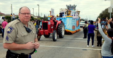 Sgt. Bryan Fleetwood on the parade route.