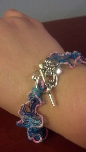Hairpin lace and tatted bracelet.