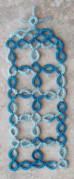 Challenge Accepted – Reader Submission for Weekly Challenge #21 - T.A.R.D.I.S. - Tatted by Marie McCurry in Lizbeth, size 20, turquoise twist.