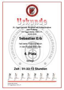 Urkunde Berglauf Oggersheim 2018