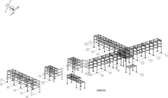 Steel design of Auxiliary Structures for Gas Turbine