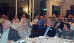 The interested audience of Westerners members at the Santa Barbara Club, April 4. Photo by Anne Petersen.