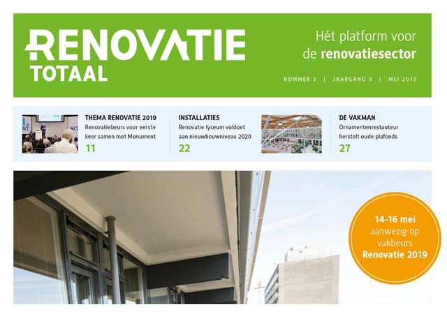 De SBVN staat in de speciale uitgave van RenovatieTotaal