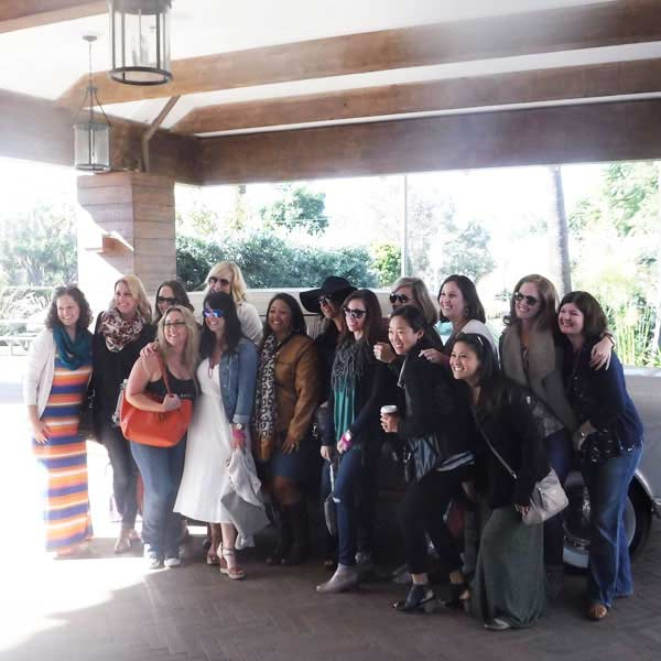 bridal parties at a winery in santa barbara