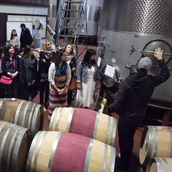 wine tanks on a tour
