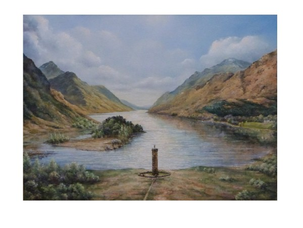 Glenfinnan monument oil painting