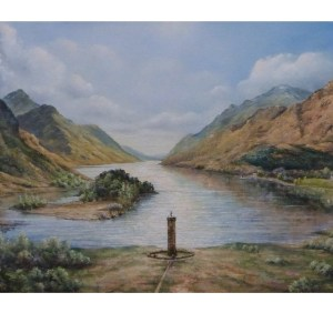 Glenfinnan monument oil painting