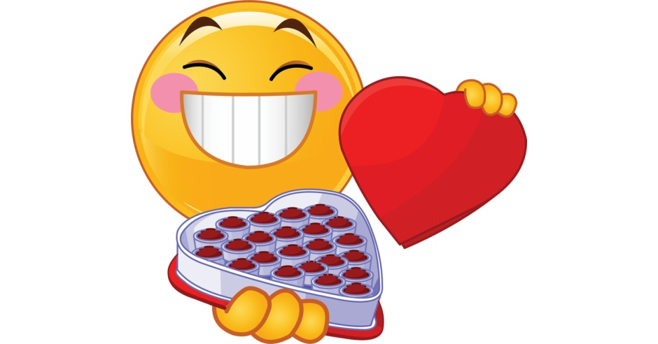 Valentine Smiley With Box Of Candy